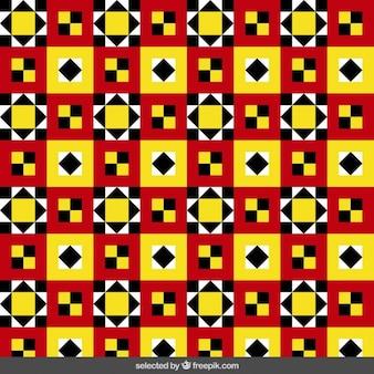 Kolorowy wzór wykonany z kwadratów