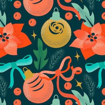 Kolorowy wzór wzór boże narodzenie
