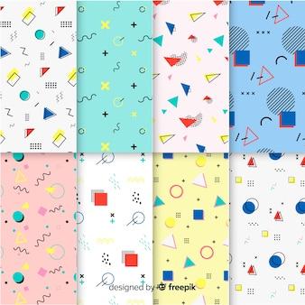 Kolorowy wzór zestaw memphis