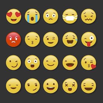 Kolorowy zbiór emotikonów