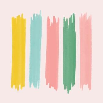 Kolorowy zestaw elementów obrysu pędzla