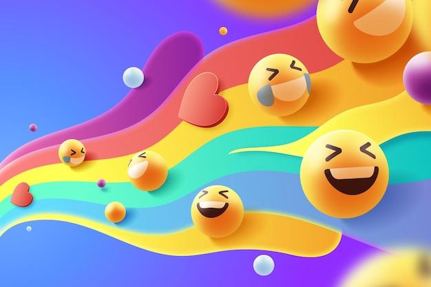 Kolorowy zestaw ikon emoji