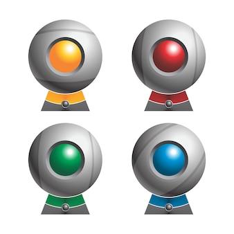 Kolorowy zestaw kamer internetowych