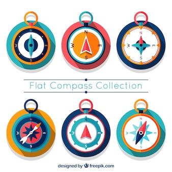 Kolorowy zestaw kompas