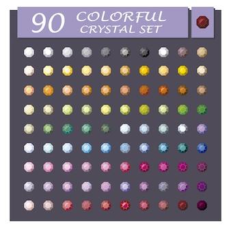 Kolorowy zestaw kryształów