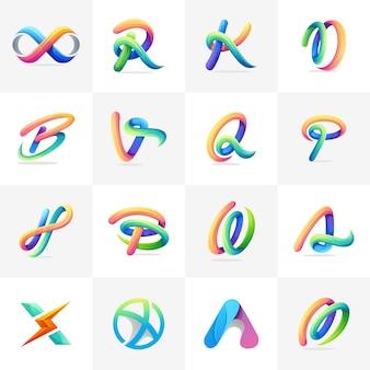 Kolorowy zestaw logo gotowy do użycia