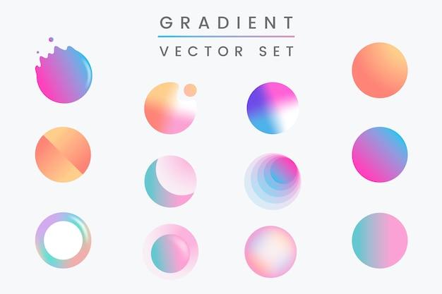 Kolorowy zestaw odznak gradientu