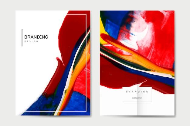 Kolorowy zestaw plakatów