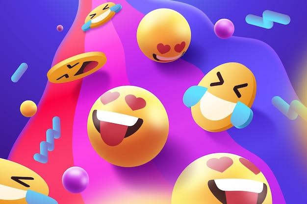 Kolorowy zestaw stylów emoji