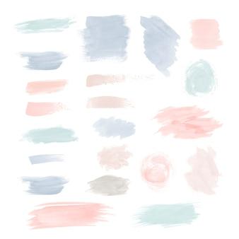 Kolorowy zestaw wektora pociągnięcia pędzla