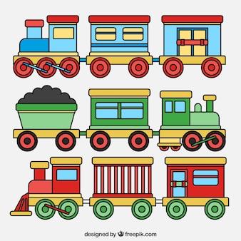 Kolorowy zestaw zabawek