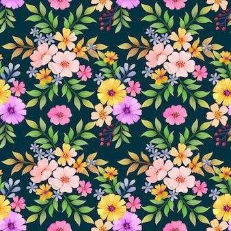 Kolorowych kwiatów tkaniny bezszwowa deseniowa tkanina.