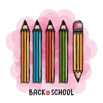 Kolory ołówków ustawić powrót do szkoły rysunku