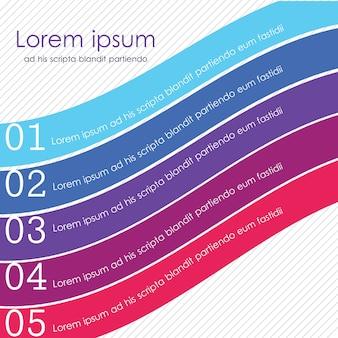 Kolory wstążki dobre dla banerów internetowych i infografiki