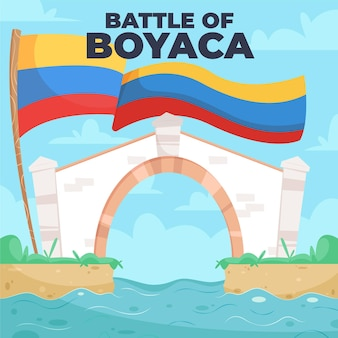 Kolumbijska batalla de boyaca ilustracja