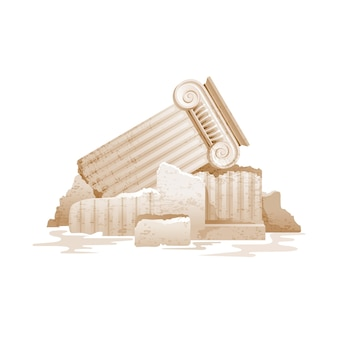 Kolumna grecka złamany wektor filaru
