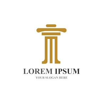 Kolumna logo i symbol wektor szablon