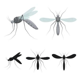 Komar owad ilustracja na białym tle
