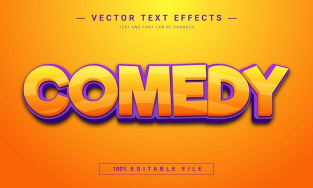 Komedia 3d edytowalny efekt tekstowy