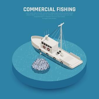 Komercyjny statek rybacki
