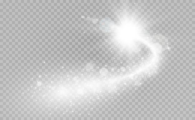 Kometa. jasna gwiazda, spadająca gwiazda
