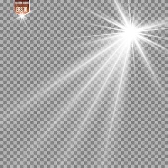 Kometa na przezroczystym tle. jasna gwiazda. gwiaździsta piękna ścieżka. spadająca gwiazda. ogon komety. meteor leci. obiekt kosmiczny.