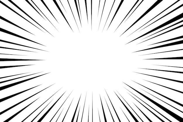 Komiczne promieniowe linie prędkości