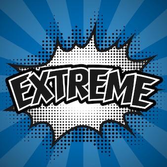 Komiczny mowa bąbel, błękitny ekstremum, ilustracja