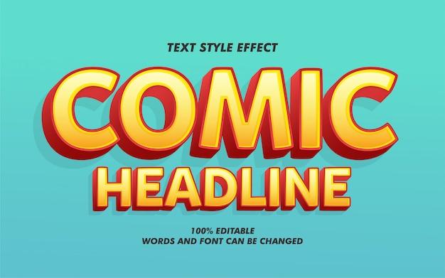 Komiczny nagłówek pogrubiony efekt stylu tekstu