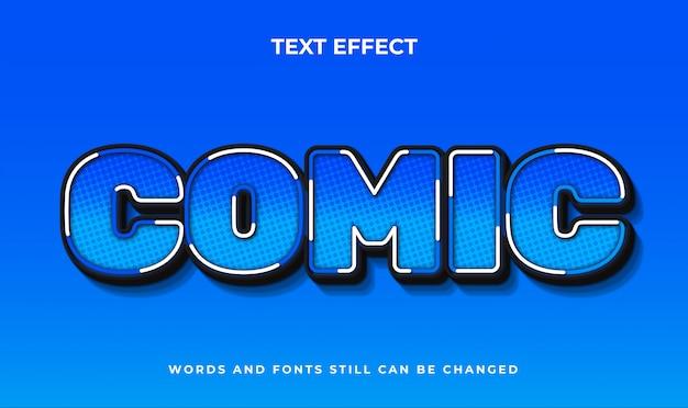 Komiks 3d edytowalny efekt tekstowy. elegancki styl tekstu