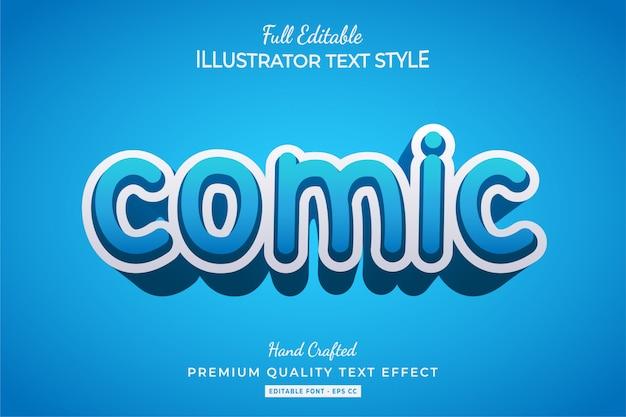 Komiks 3d styl tekstu efekt premium