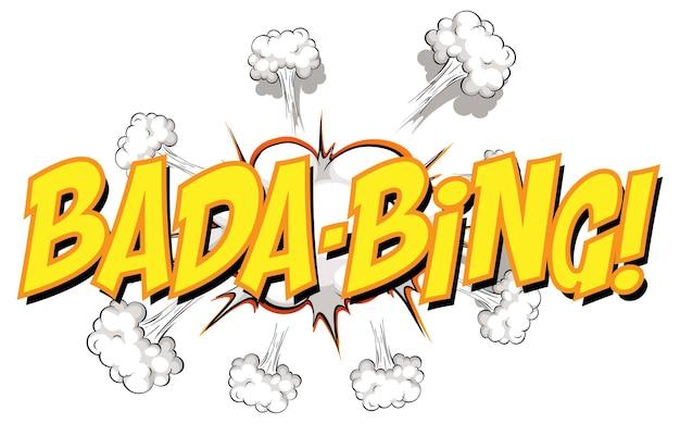 Komiks dymek z tekstem bada-bing