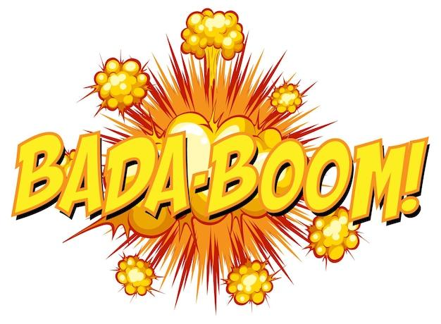 Komiks dymek z tekstem bada-boom