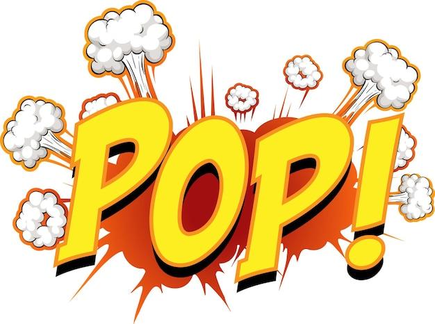 Komiks dymek z tekstem pop