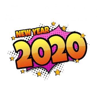 Komiks dymek z tekstem wyrażenia 2020
