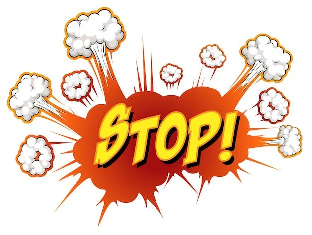 Komiks dymek z tekstem zatrzymania