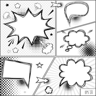 Komiks dymki i komiks wektor retro komiks dymki ilustracja wektorowa