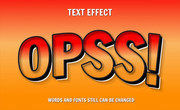 Komiks edytowalny efekt tekstu 3d