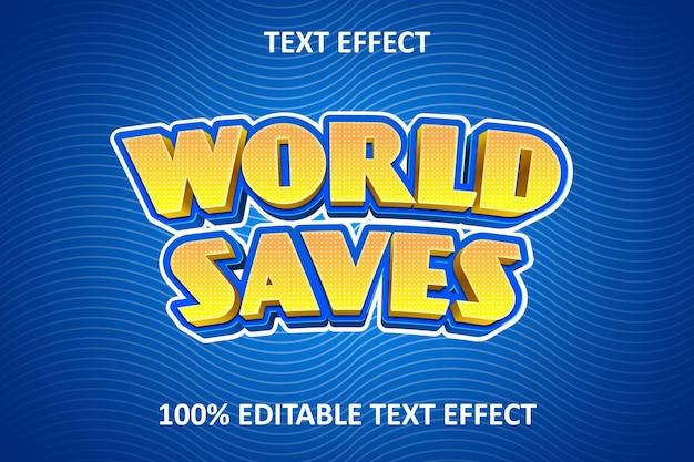 Komiks fantazyjny edytowalny efekt tekstowy żółty niebieski