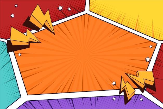Komiks kolorowe tło ramki