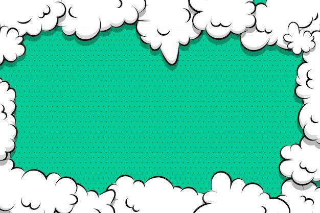 Komiks kreskówka mowy bańka chmura dla tekstu