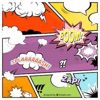 Komiks mowy pęcherzyków kolekcji