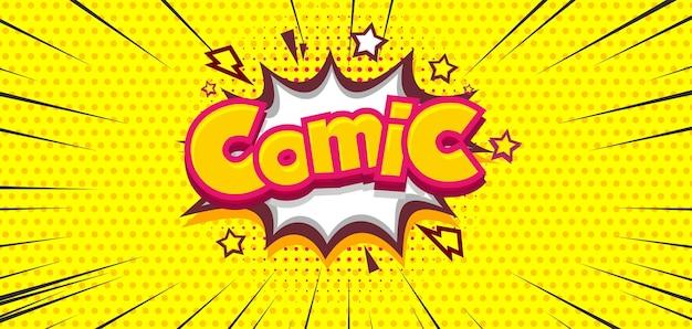 Komiks półtonów żółte kropkowane tło