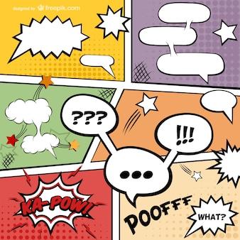 Komiks strona książki do pobrania za darmo wektor