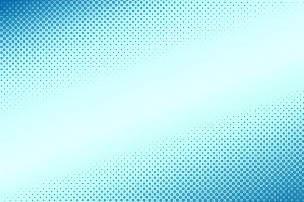 Komiks stylu półtonów gradient niebieskim tle