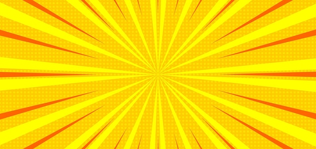 Komiks sunburst żółte tło