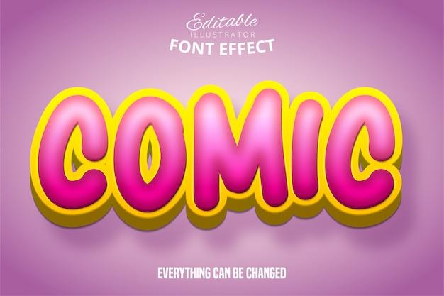 Komiks tekstu, efekt czcionki edytowalnej 3d