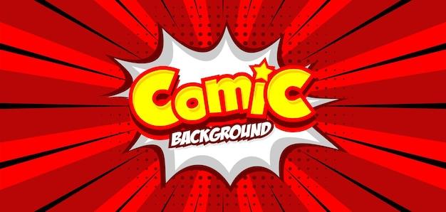 Komiks tło w czerwonym stylu pop-art