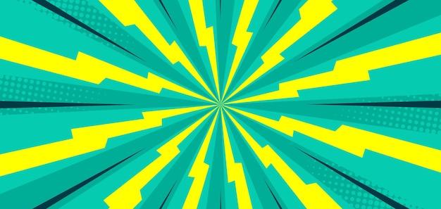 Komiks tło z żółtą lampą błyskową