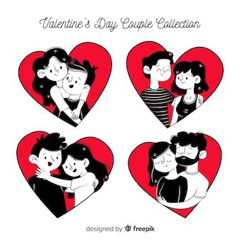 Komiks valentine pary opakowanie